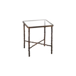 Wild Rose | Squared rosehip stalks table small | Mesas auxiliares | Il Bronzetto - Brass Brothers & Co