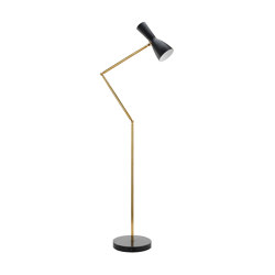Wormhole | Jointed Vintage Floor lamp | Luminaires sur pied | Il Bronzetto - Brass Brothers & Co