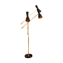 Wormhole | Three arms Vintage Floor lamp | Luminaires sur pied | Il Bronzetto - Brass Brothers & Co