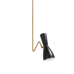 Wormhole | Double curve vintage spot light | Suspended lights | Il Bronzetto - Brass Brothers & Co