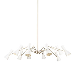 Wormhole | Ten lights joint vintage chandelier | Suspensions | Il Bronzetto - Brass Brothers & Co