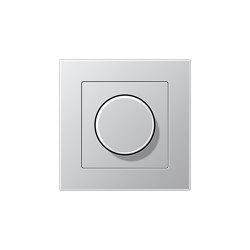 A 550   Drehdimmer Aluminium   Rotary switches   JUNG