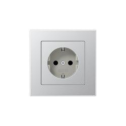 A 550 | SCHUKO-Steckdose Aluminium | Schuko sockets | JUNG