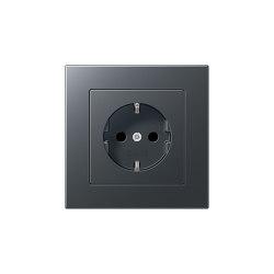 A 550 | SCHUKO-Steckdose Anthrazit | Schuko sockets | JUNG