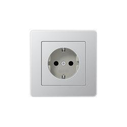 A Flow SCHUKO-Steckdose Aluminium | Schuko sockets | JUNG