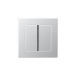 A Flow Tastsensor F 40 2fach Aluminium | Push-button switches | JUNG