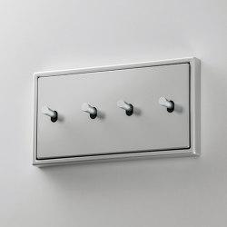 LS 1912 | Aluminium zweifach Kippschalter Kegel doppelt | Toggle switches | JUNG