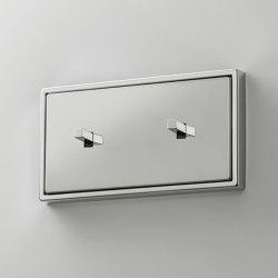 LS 1912 | Glanzchrom zweifach Kippschalter doppelt Kubus | Toggle switches | JUNG