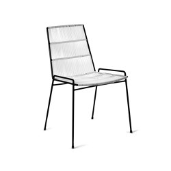 Abaco Stuhl Gestell Schwarz + Sitz Weib | Stühle | Serax