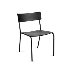 August Stuhl Alu Schwarz | Chairs | Serax