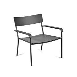 August Lounge Chair Alu Black | Armchairs | Serax