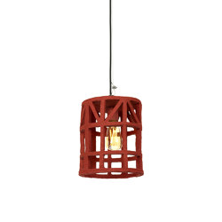 Earth Hanging Lamp Paper Mache Red S | Suspended lights | Serax