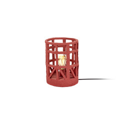 Earth Standing Lamp Paper Mache Red S | Free-standing lights | Serax