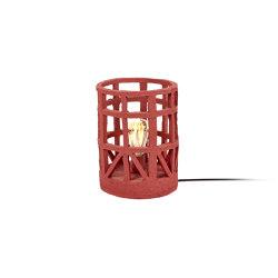 Earth Tischlampe Paper Mache Rot S | Standleuchten | Serax