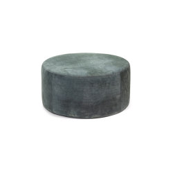 Interior Design by Bea Mombaers Small Leather Pouffe Dark Grey | Pouf | Serax