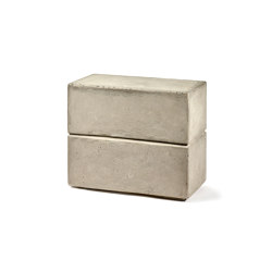Pawn Rectangular Concrete Stool Marie | Side tables | Serax