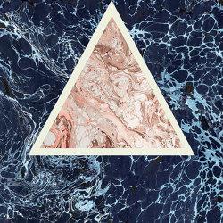 Araldica | Triangoli Blu | Ceramic panels | FLORIM