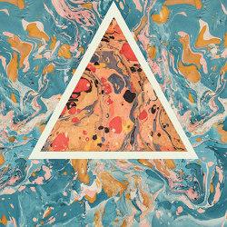 Araldica | Triangoli Azzurro | Ceramic panels | FLORIM