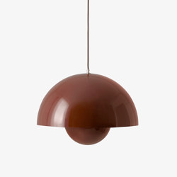 FlowerPot Big Pendant VP2 red brown | Suspended lights | &TRADITION