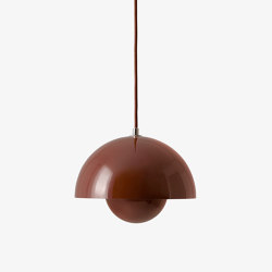 Flowerpot VP1 Red Brown | Suspended lights | &TRADITION