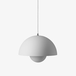 FlowerPot Pendant VP7 matt light grey | Pendelleuchten | &TRADITION