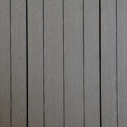 Ecolegno decking - colour dark grey - wide groove | Wood flooring | Saimex