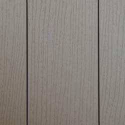 Ecolegno decking - colour white sand - finish wood grain | Wood flooring | Saimex