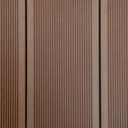 Ecolegno decking - colour champagne -  small groove   Wood flooring   Saimex
