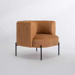 Capper Lounge Chair - with Metal Base | Fauteuils | Phase Design