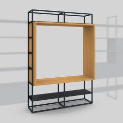Module J – Small printer station 400 | Shelving | Artis Space Systems GmbH