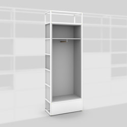 Module D – Wardrobe 400 | Shelving | Artis Space Systems GmbH