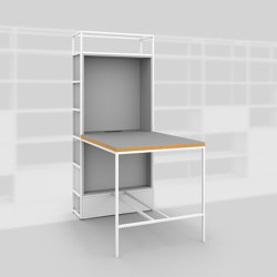 Module F – Small desk 400 | Shelving | Artis Space Systems GmbH