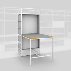 Module F – Small desk 650 | Étagères | Artis Space Systems GmbH