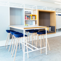 Module F – Small desk 650 | Shelving | Artis Space Systems GmbH