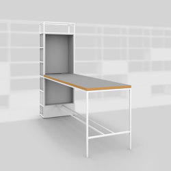Module G – Large desk 400 | Shelving | Artis Space Systems GmbH