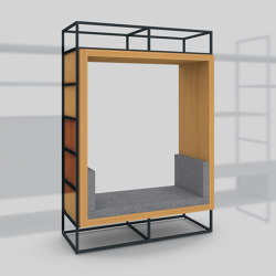 Module H – Seating recess 650 | Shelving | Artis Space Systems GmbH