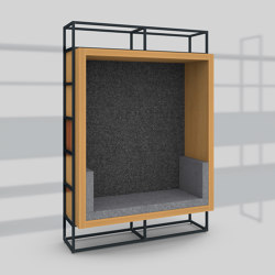Module H – Seating recess with back panel 400 | Shelving | Artis Space Systems GmbH