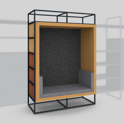 Module H – Seating recess with back panel 650 | Shelving | Artis Space Systems GmbH