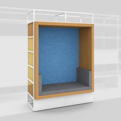 Module H – Seating recess with back panel 650 | Estantería | Artis Space Systems GmbH