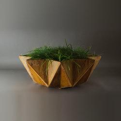 Kronen Bowl Planter, Rust Stained Concrete | Vasi piante | Adam Christopher Design