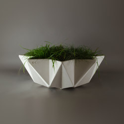 Kronen Bowl Planter, White | Plant pots | Adam Christopher Design