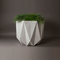 Prisme Planter, Grey Concrete | Plant pots | Adam Christopher Design