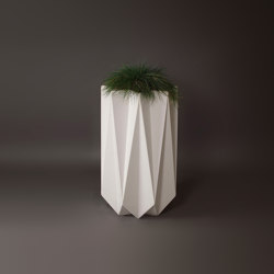 Kronen 90 Concrete Contemporary Planter,White | Plant pots | Adam Christopher Design