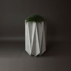 Kronen 90 Concrete Contemporary Planter, Grey Concrete | Maceteros | Adam Christopher Design