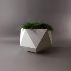 Femkant Garden Planter, White | Plant pots | Adam Christopher Design