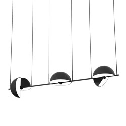 Trapeze Triplette Black | Suspended lights | Oblure