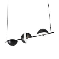 Trapeze Triplette Black | Suspended lights | Oblure