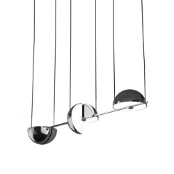 Trapeze Triplette Chrome   Suspended lights   Oblure
