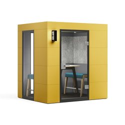 Meeting Unit |  yellow | Sound absorbing architectural systems | OFFICEBRICKS