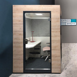 Work Unit |  in oak light | Office Pods | OFFICEBRICKS